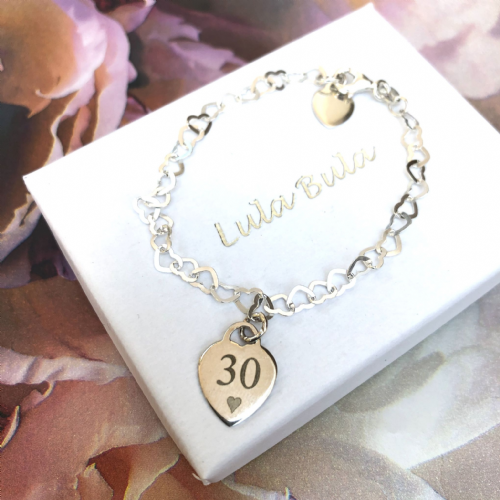 30th birthday  gift bracelet - FREE ENGRAVING (1)